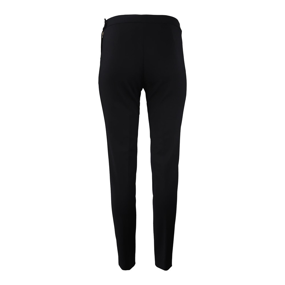 Maxmara Studio Slim Cotton Stretch Trousers Black