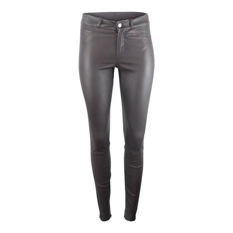 Set Skinny Leather Pants