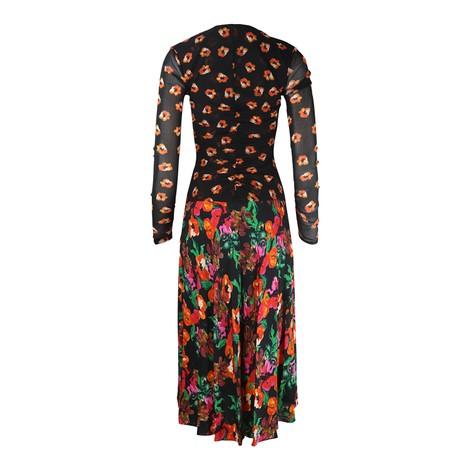 DVF Linia Floral Mesh Dress