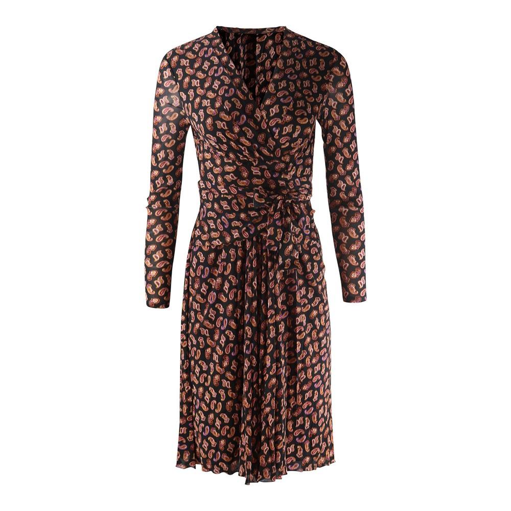 DVF Brenda Mesh Dress Black/Multi