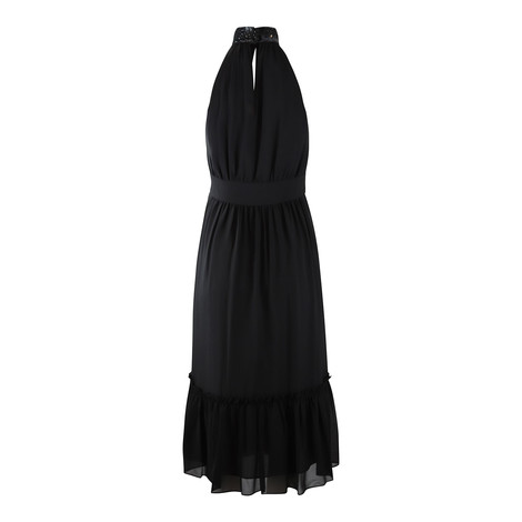 Michael Kors Sequin Halterneck Midi Dress