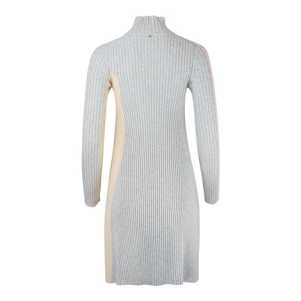 Sportmax Long Sleeve Knit Dress Grey