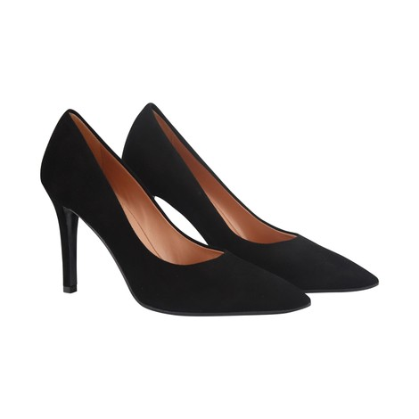 Aristocrat High Heel Suede Court Shoes