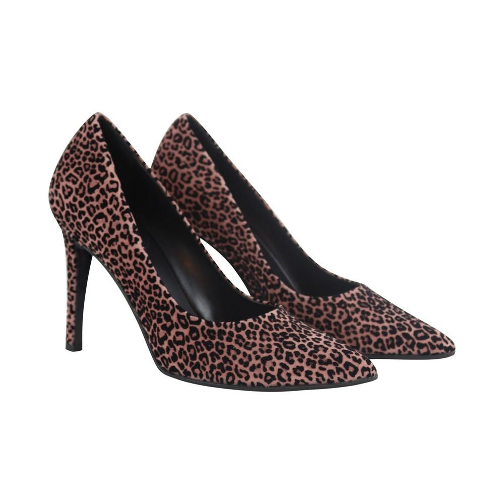 Aristocrat Floc Pink Animal High Heel Court Shoe Animal Print