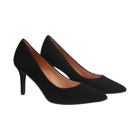 Aristocrat Camoscio Suede Lower Heel Court Shoe