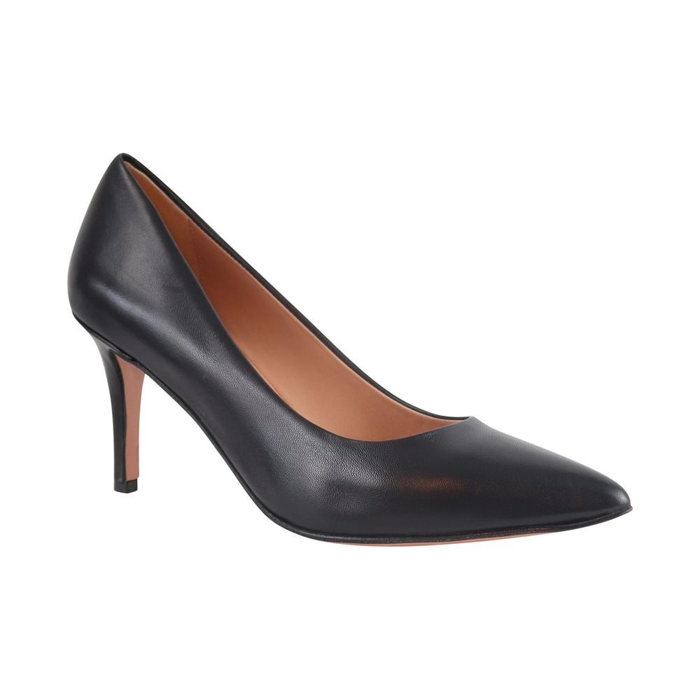 Aristocrat Nappa Leather Lower Heel Court Shoe Black