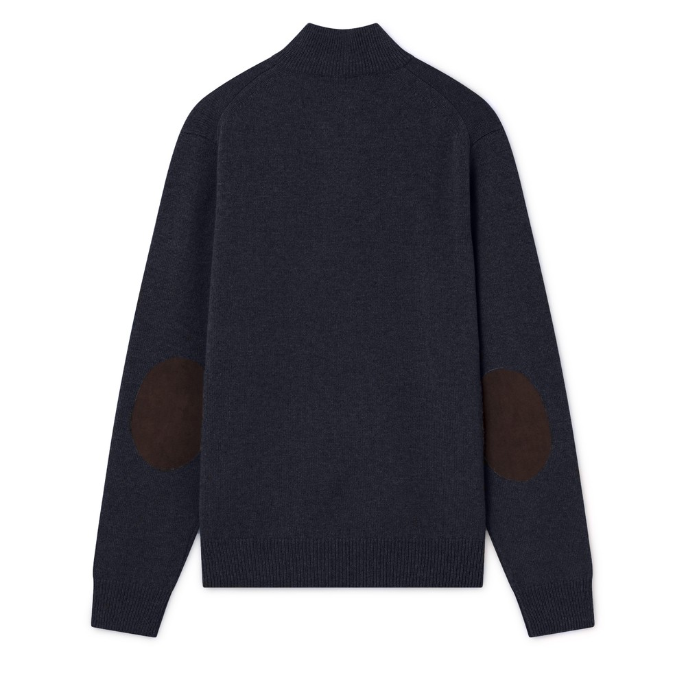 Hackett Lambswool Half Zip Sweater Navy