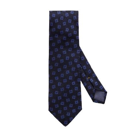 Eton Navy Geometric Woven Blend Tie