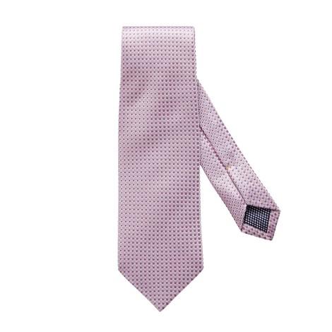 Eton Pink Fine Dotted Silk Tie