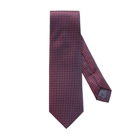 Eton Burgundy Fine Dotted Silk Tie
