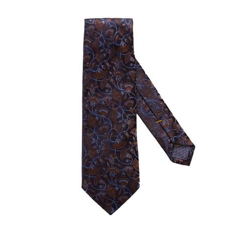 Eton Navy Floral Papyrus Silk Tie
