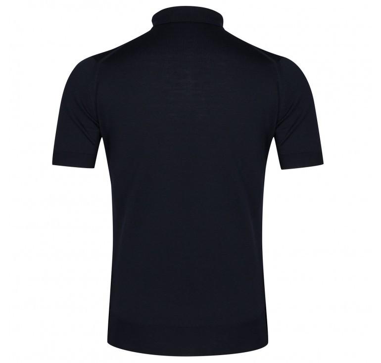 John Smedley Payton Short Sleeve Polo Navy