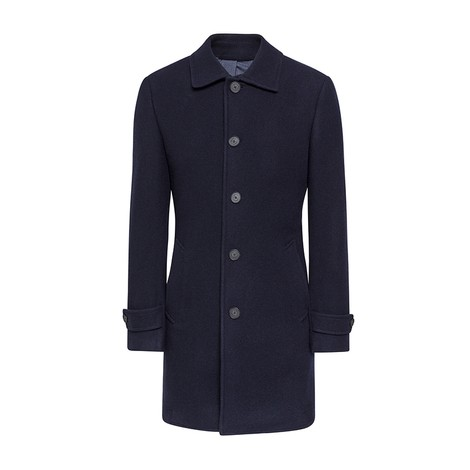 Hackett Washed Wool Twill Coat