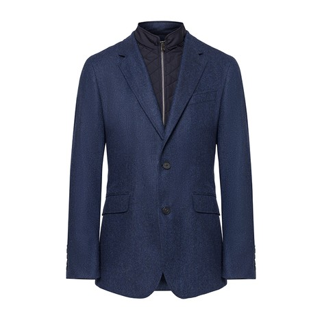 Hackett Herringbone Blazer with Moleskin Bib
