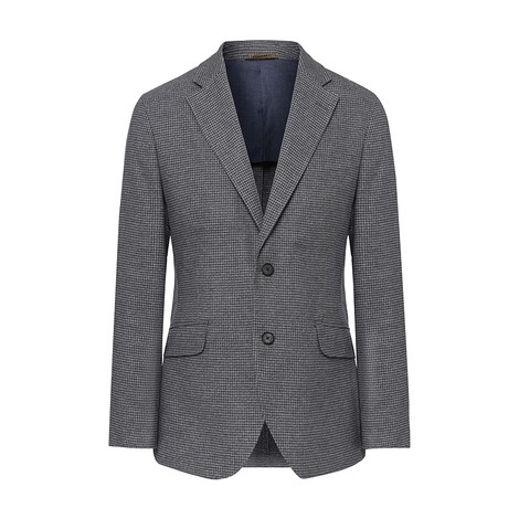 Hackett Brushed Cotton Houndstooth Blazer