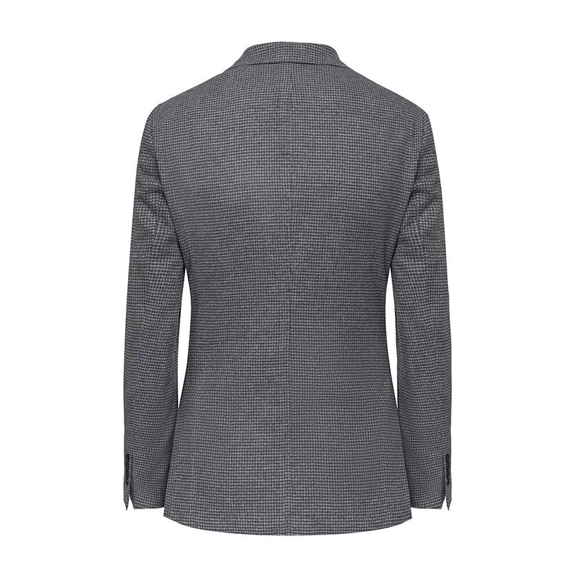 Hackett Brushed Cotton Houndstooth Blazer Grey