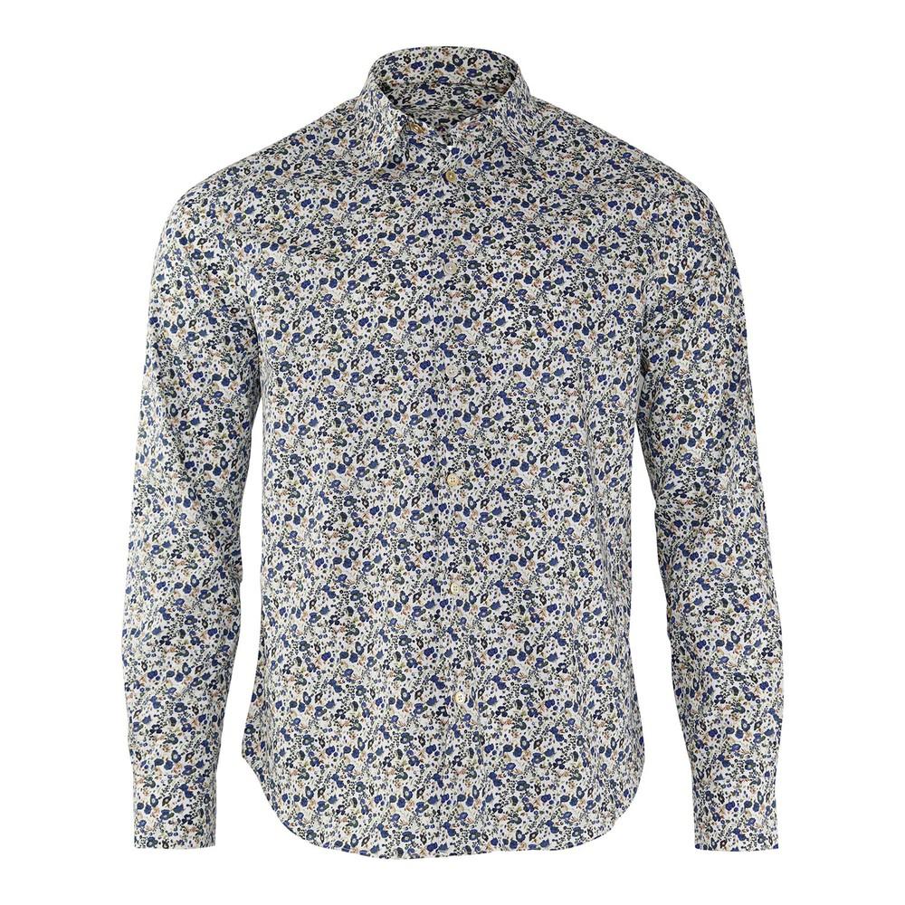Paul Smith Floral Print Shirt Blue