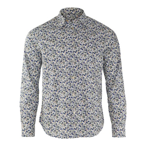 Paul Smith Floral Print Shirt in Blue