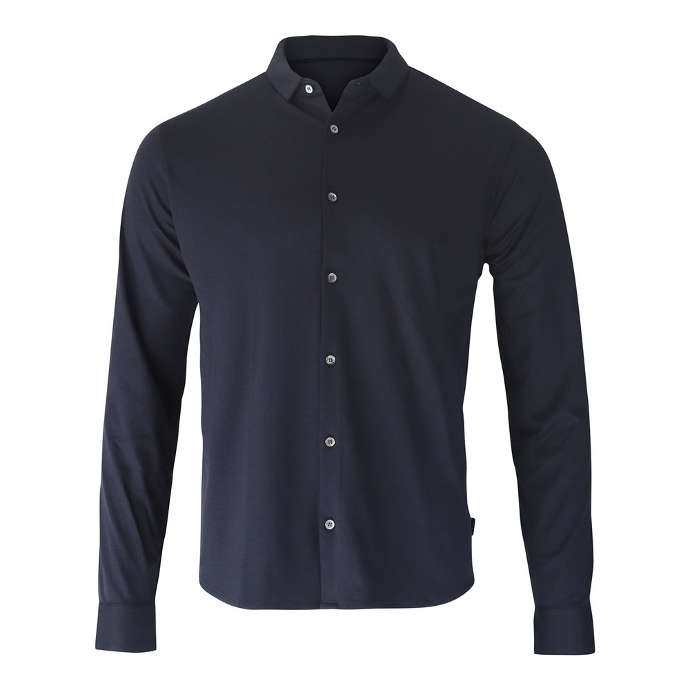 Emporio Armani Slim Fit Jersey Shirt Navy