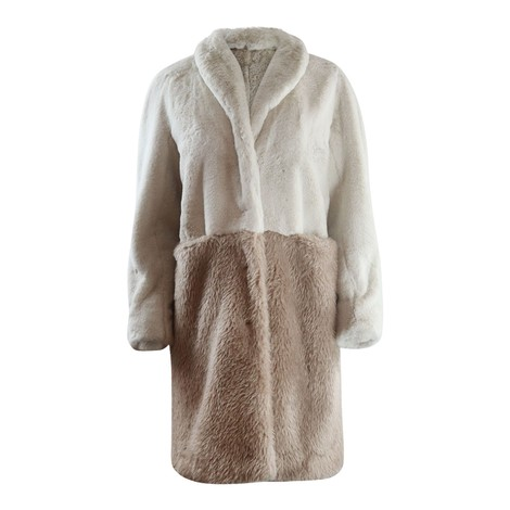 Marella Tevere Two Tone Faux Fur Coat