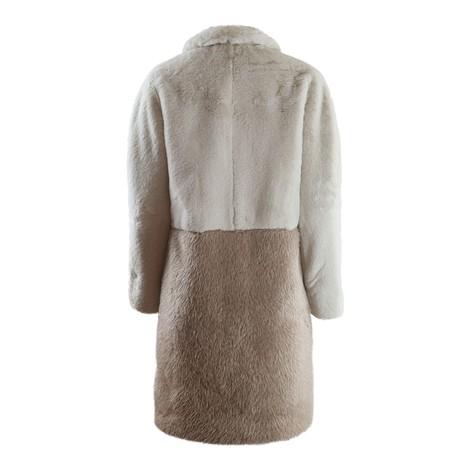 Marella Tevere Two Tone Faux Fur Coat