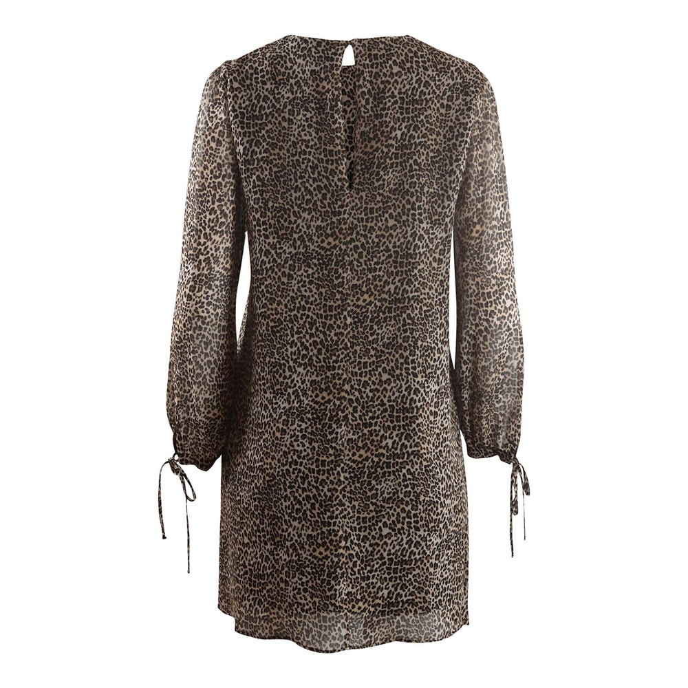 Marella Ulster Longsleeve Leopard Dress Animal Print