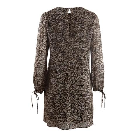 Marella Ulster Longsleeve Leopard Dress