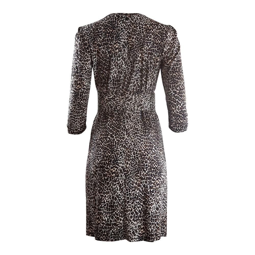 Marella Leopard Print Jersey Dress Animal Print
