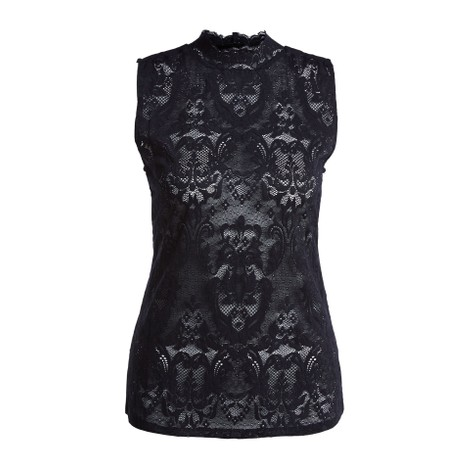 Set Lace Shirt in Black
