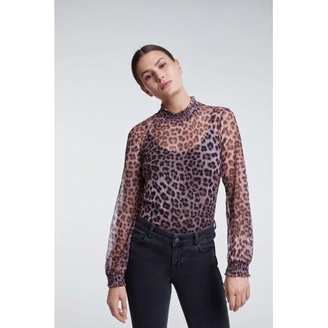 Set Leopard Print Blouse