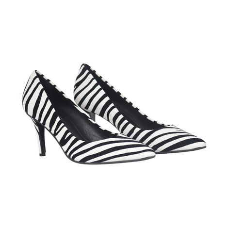 Aristocrat Zebra Bianco Lower Heel