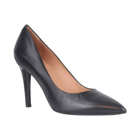 Aristocrat Nappa Nero High Heel Court Shoe