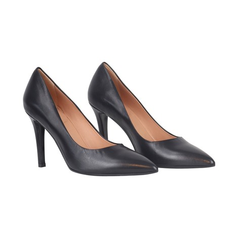 Aristocrat Nappa Nero High Heel Court Shoe
