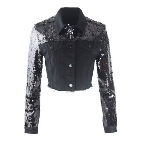 J Brand Cropped Cyra Sequin Jacket