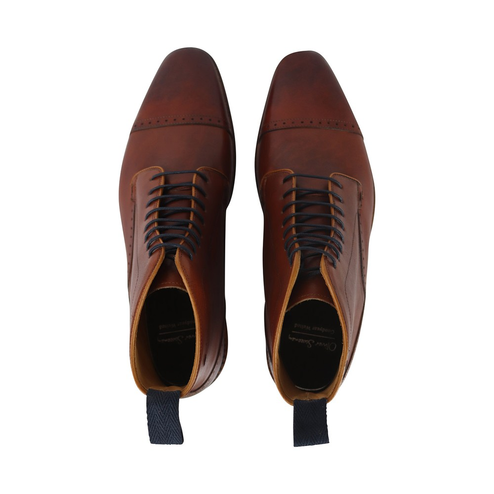 Oliver Sweeney Wick Brogue Boot Tan