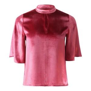 J Brand Chani Short Sleeve Velvet Top