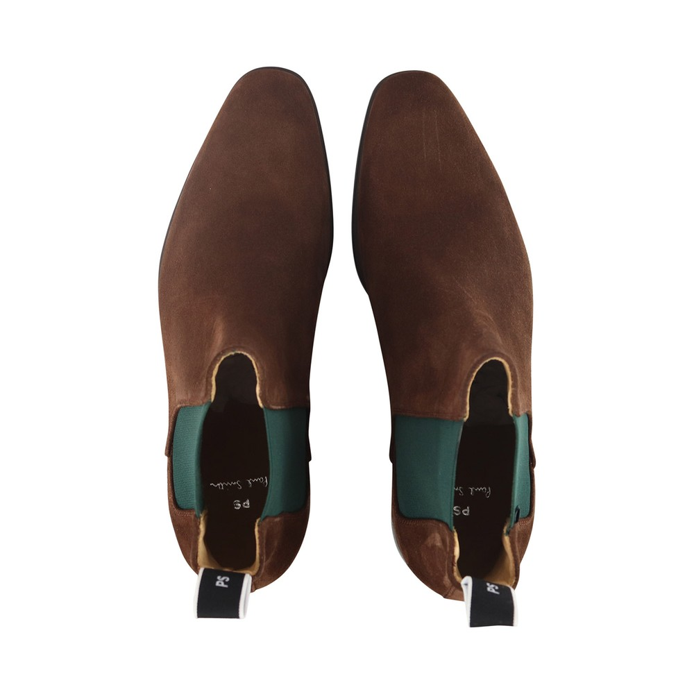 PS Paul Smith Gerald Suede Chelsea Boots Brown