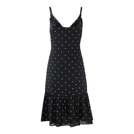 Michael Kors Eyelit Ruffle Slip Dress