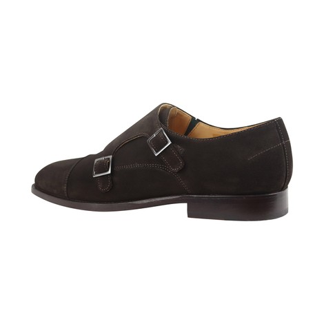 PS Paul Smith Frank Double Monk Suede Shoes