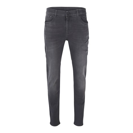 7 For All Mankind Slimmy Tapered - Luxe Performance Plus Washed Black