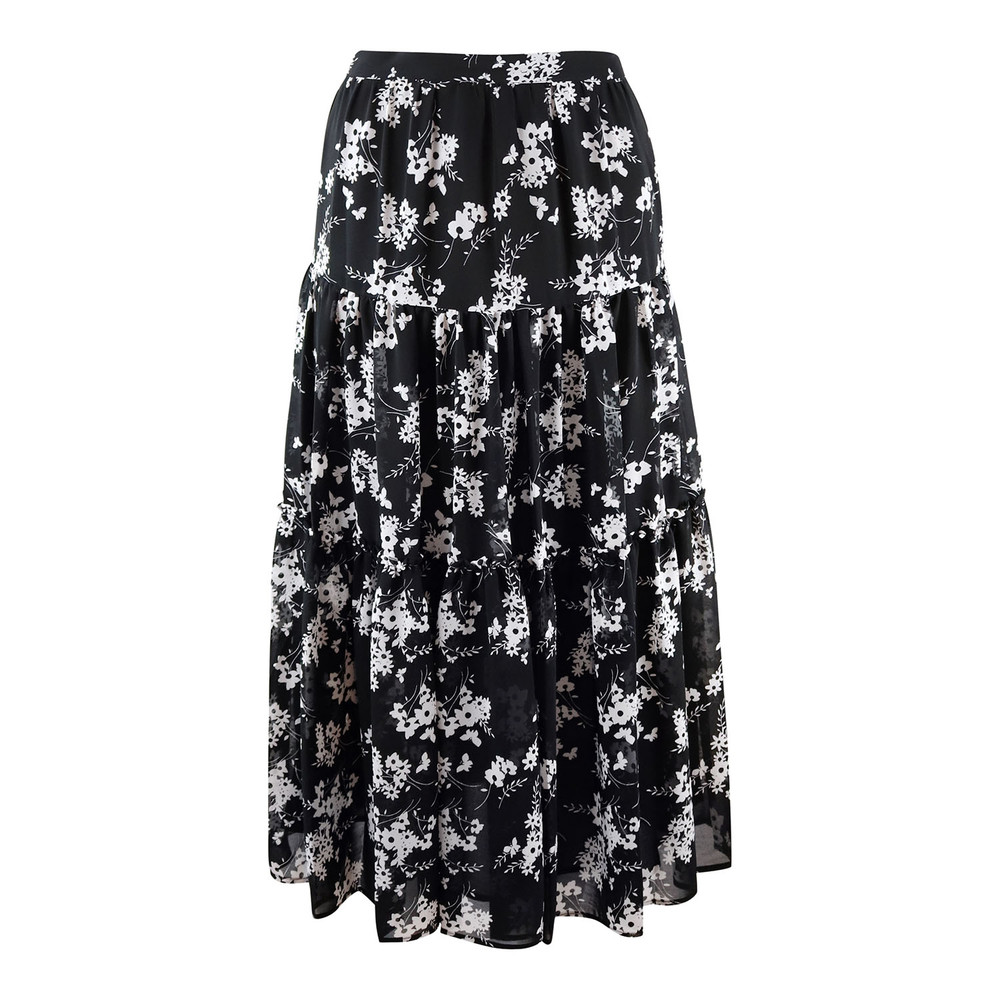 Michael Kors Botanical Skirt Black