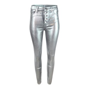 J Brand Lillie High Rise Crop Skinny Galactic Silver Jean