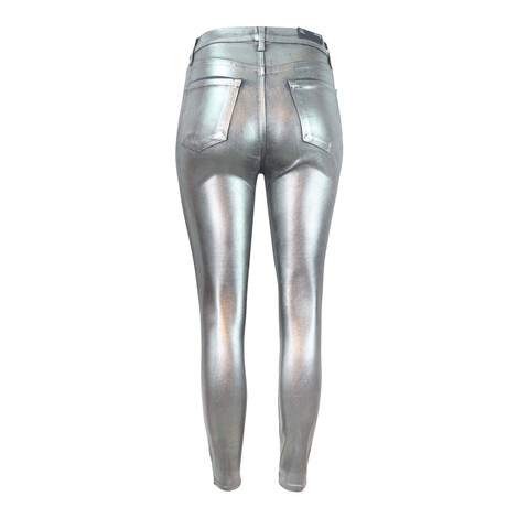 J Brand Lily High Rise Crop Skinny Galactic Silver Jean