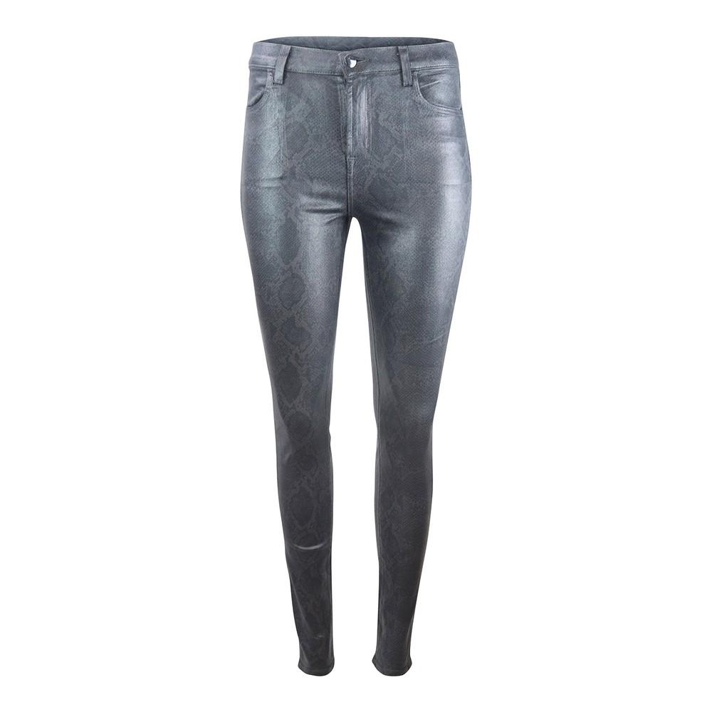 J Brand Maria High Rise Sleepwalker Coated Boa Skinny Jean Metallic