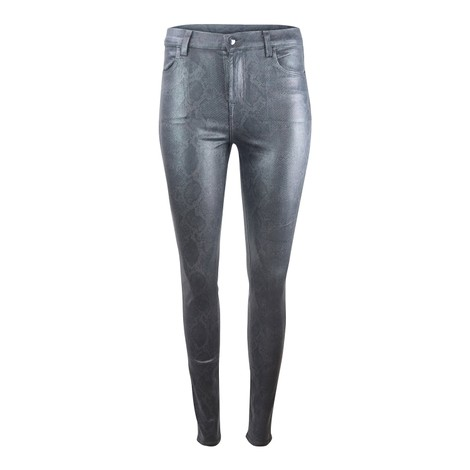 J Brand Maria High Rise Sleepwalker Coated Boa Skinny Jean