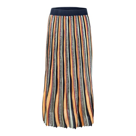 Scotch & Soda Lurex Sparkle Pleated Skirt