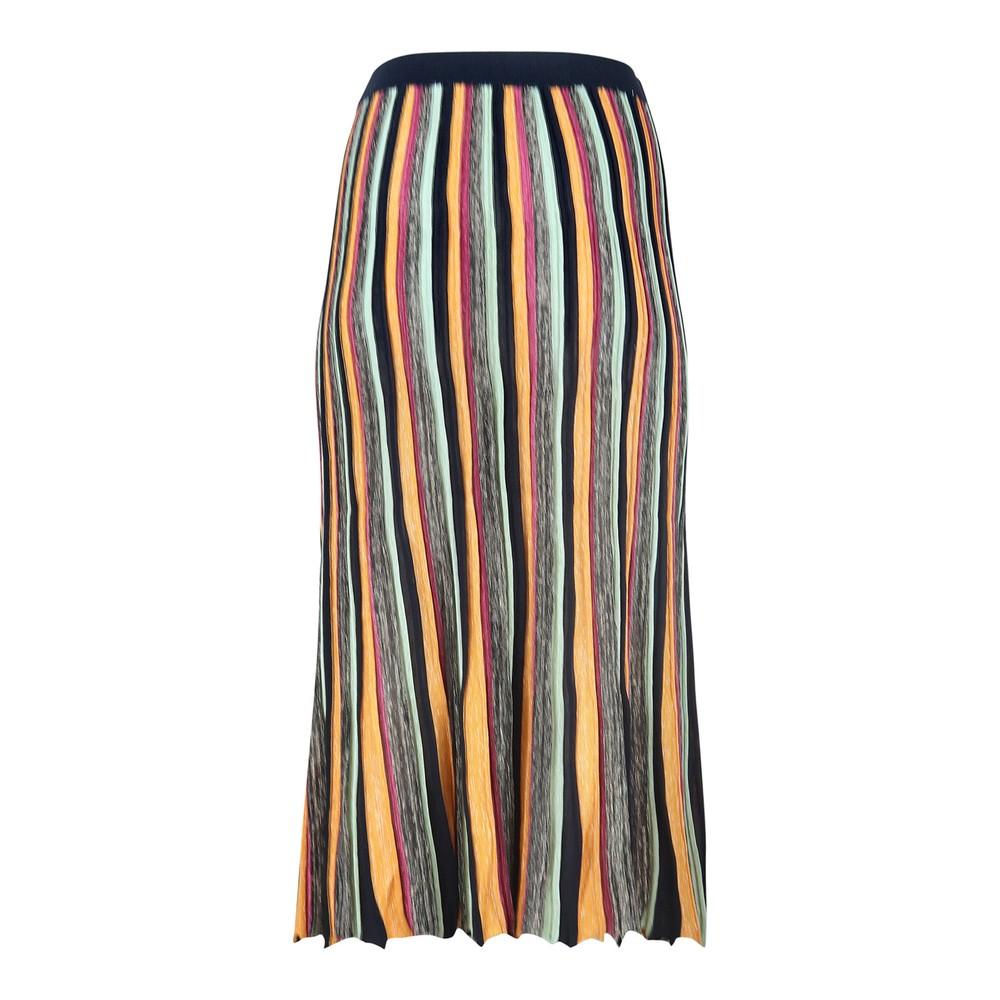 Scotch & Soda Lurex Sparkle Pleated Skirt Striped