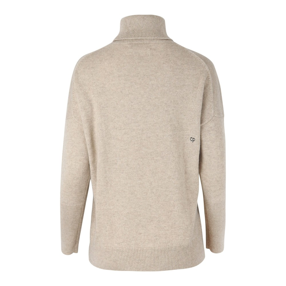 Chinti & Parker The Relaxed Polo Essential Cashmere Jumper Oatmeal