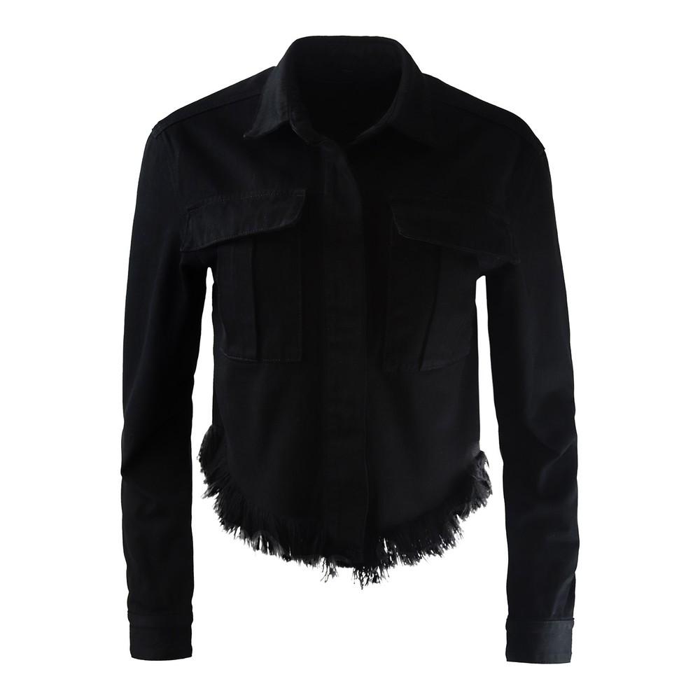 J Brand Shannan Fray Jacket Black