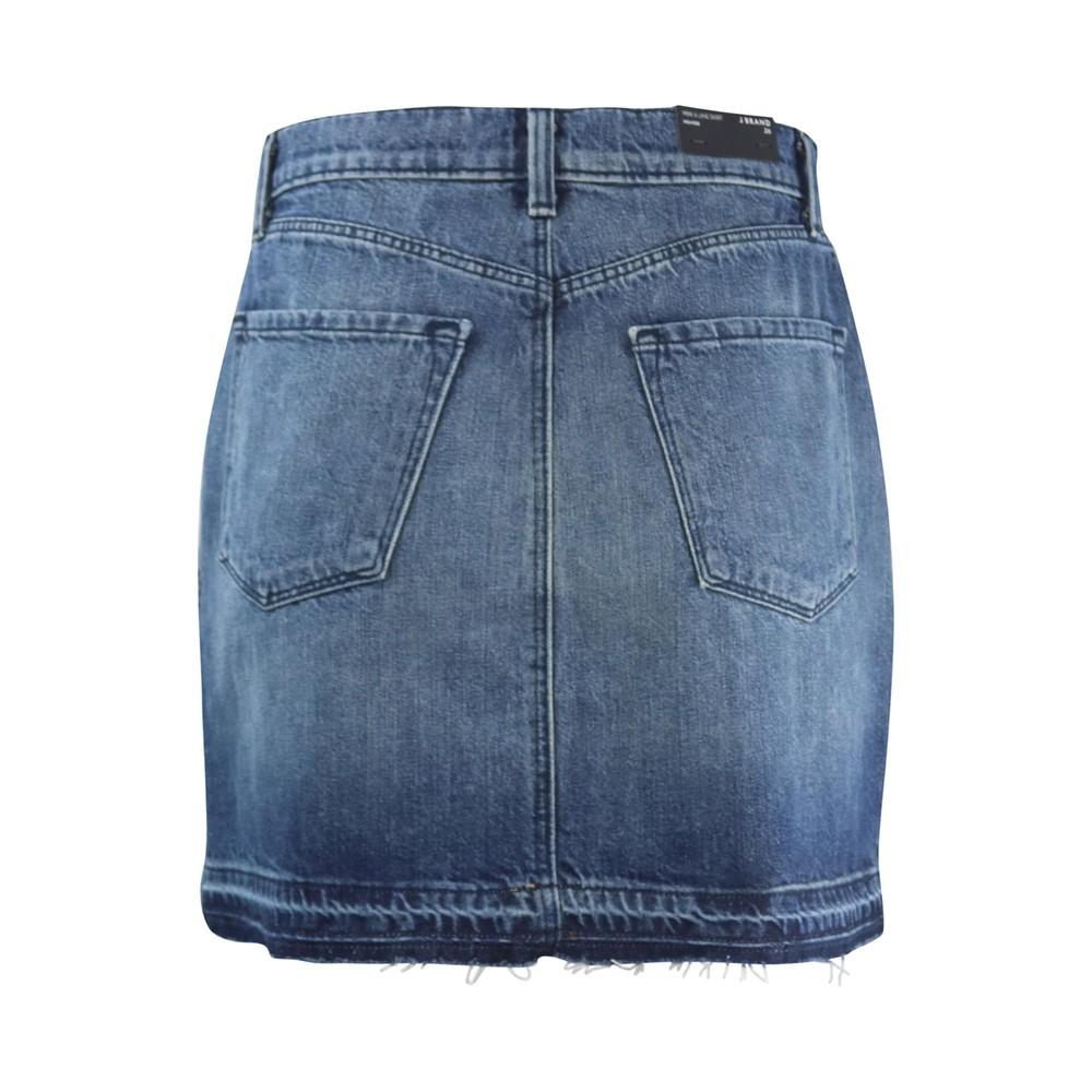 J Brand Mini A Line Skirt Highrise Ambition Denim